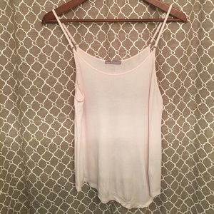 Zara Blush asymmetrical tank top