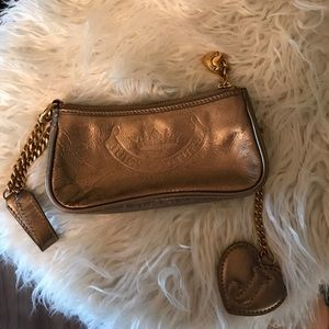 Gold juicy couture wristlet