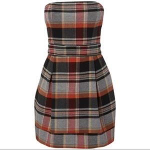 French Connection plaid wool dress