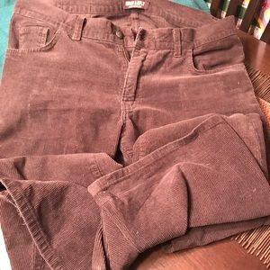 Men's 34 regular dark brown bootcut cords like new