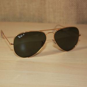 Ray-Ban Aviator Classic POLARIZED - Gold Frames