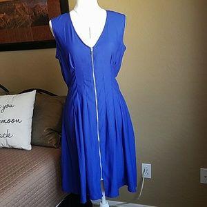 NEW H&M Blue Silver Zipper Dress