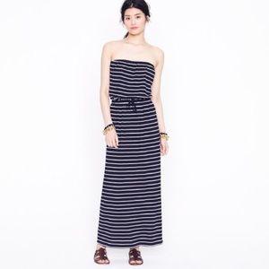 J. Crew Amie Stripe Maxi Dress, M