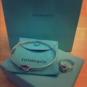 Tiffany & Co. Picasso Sterling 18k Gold Hook Eye