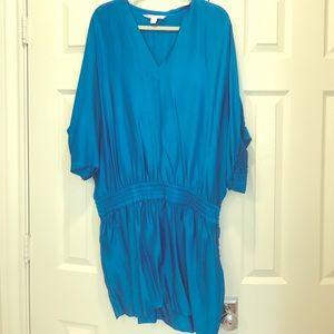 DVF relaxed fit blouson Silk Dress