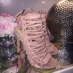 Blush Pink Dress Sandal Heels!!