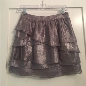 CLUB MONACO metallic layered min skirt