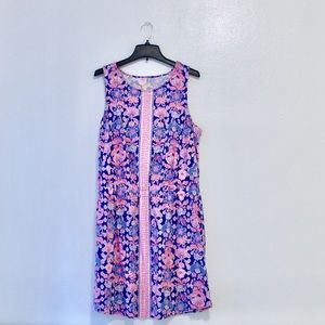 // Lilly Pulitzer Blue and Pink Cotton Dress
