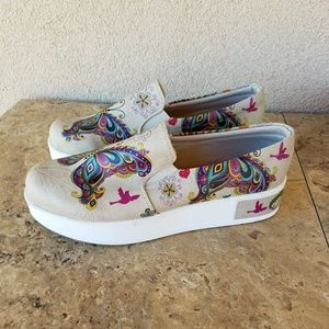Goby Butterfly Tattoo Platform Sneakers Size 39