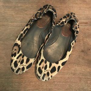 Dolce and Gabbana Leopard Print Flats