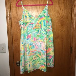 Lilly Pulitzer Lela Silk Dress Sea Salt and Sun