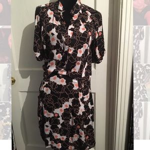 DVF fitted Shirtdress Sz 8 NWOT