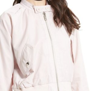 NWT Free People Midnight Bomber Jacket Rose Pink L