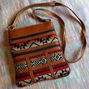 Vintage Southwestern style crossbody purse