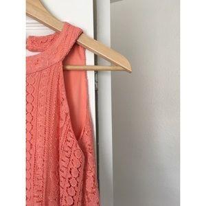 Vintage Style Pink Lace Short Dress