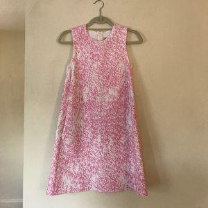 Zara Knit pink and white dress
