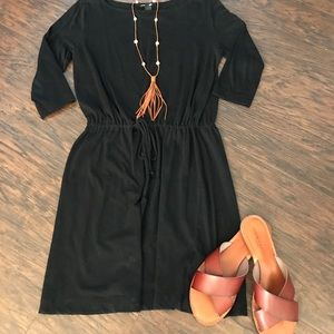 Basic black tee-shirt dress