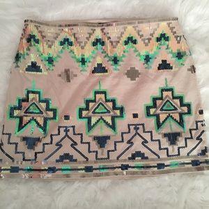 EXPRESS Sequined Mini Skirt
