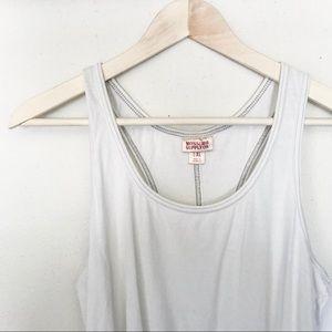 Plain white tank top