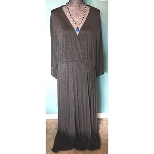 Gray Maxi Dress 3X fits 2X also New with Tags