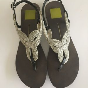 Dolce Vita silver rope sandals