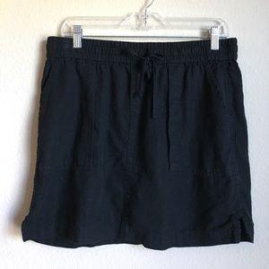 Black cotton mini skirt, old navy