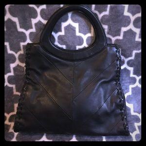 ANNE KLEIN *LIKE NEW* black leather bag