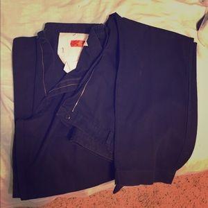 Two pair men's black work pants