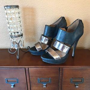 Madden Girl Juniperr metallic strap heels, sz. 7.5
