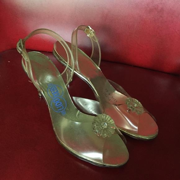 c71304035d80e Beautiful 1950's Lucite Rhinestone Wedding Heels