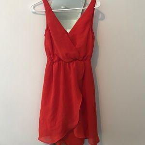 Bright Orange Ruffle Dress