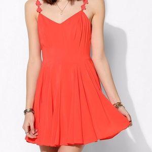NWOT Kimchi Blue Coral Spaghetti Strap Dress