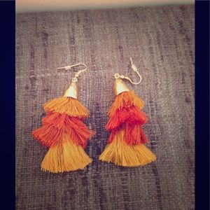 Fun and flirty tassel earrings 🌺