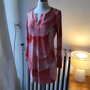 Diane Von Furstenberg orange white dress 4