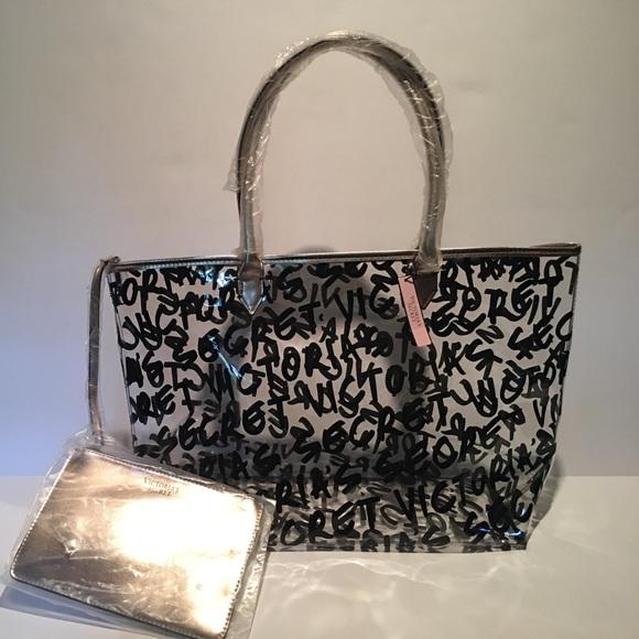 cd1e8599e3f3b Clear see-through Victoria's Secret bag NWT