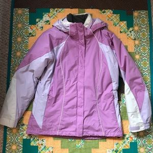 Columbia winter jacket/with removable fleece.