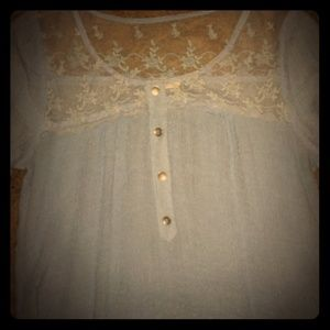 💙Baby blue lace top💙