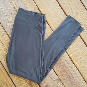 Lularoe TC Charcoal Solid Leggings
