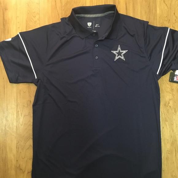 19c3a11de Dallas Cowboys Nike Dr-Fit Team Issue Polo Shirt