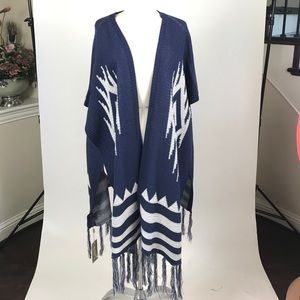 long knitted cape poncho Cover