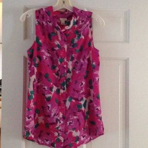 J. Crew Tops - j Crew Floral Print Sleeveless Blouse Size 2