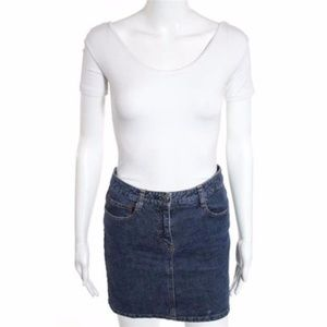 THEORY Denim Mini Skirt