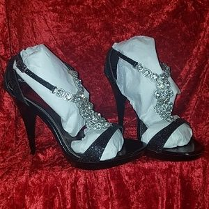 Sparkly Platform Party Heels