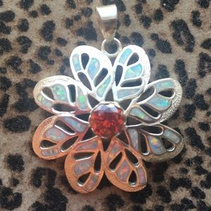 Jewelry - Large Gorgeous opals deep orange stone October