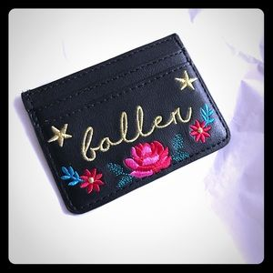 Skinnydip Western Style Embroidered Card Wallet