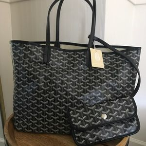 Canvas and leather tote