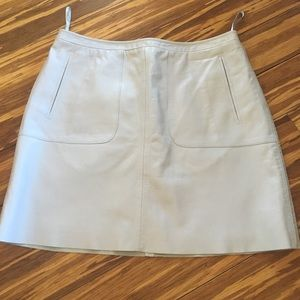 Lavender French Connection Leather Skirt Size 6