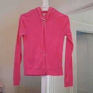Juicy Couture hot pink zip hoodie