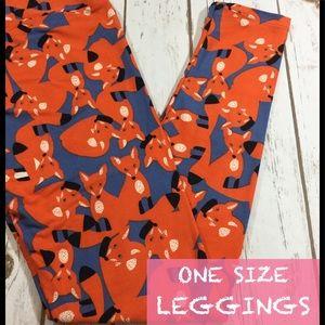 One size FOX Lularoe Leggings
