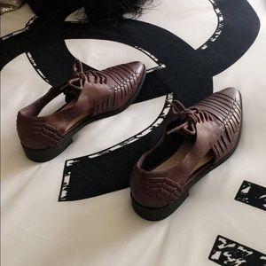 NWOT!• Forever 21 Brown Cutout Loafers shoes